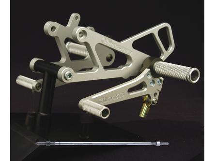 Woodcraft Aprilia RS250 Complete Rearset Kit w/3 Piece Pedals