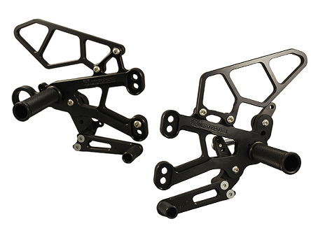 Woodcraft BMW S1000RR 10+ Rearset Kit - GP Shift Complete W/Pedals