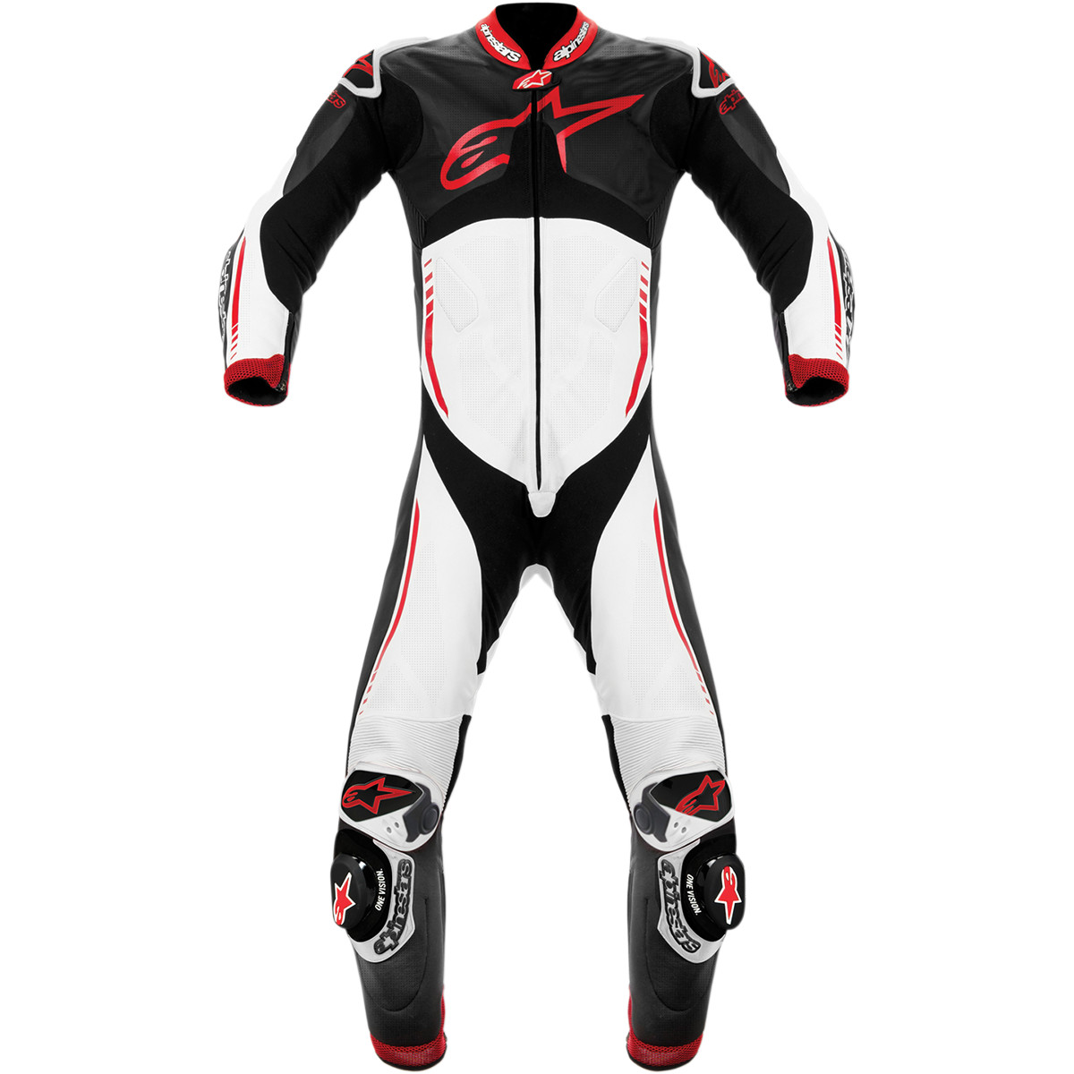 Alpinestars Atem 1 Piece Leather Suit Black / White / Red