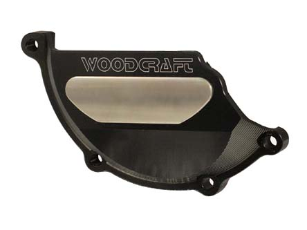Woodcraft BMW S1000RR 10+ LHS Stator Cover Protector Assbly Black W/Skid Plate Kit Choice/249H