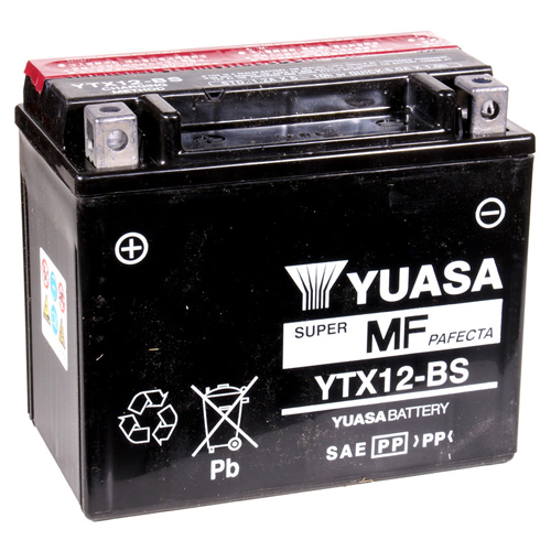 Yuasa Maintenance Free VRLA 12V Battery - YTX12-BS