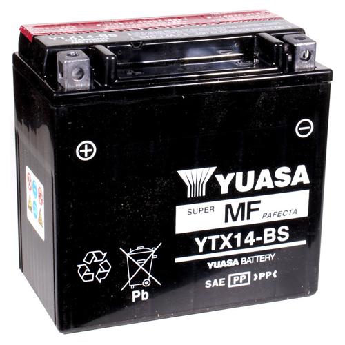 Yuasa Maintenance Free VRLA 12V Battery - YTX14-BS