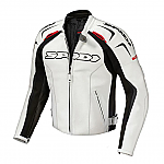 Spidi Track Leather Jacket White / Black