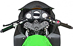 Woodcraft Split Clip-on's Kawasaki Ninja 250 08+