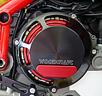 Woodcraft Ducati 748/1098/1198 '99+ RHS All (Dry) Clutch Cover Assbly Blk W/Skid Plate Kit Choice (249H)