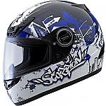 Scorpion EXO-400 Helmet Urban Destroyer Blue
