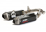 FMF Apex Slip-On Exhaust 07-08 GSXR1000 CF/Ti Dual Outlet