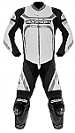 Alpinestars Motegi 1 Piece Suit White / Black