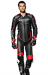 Spidi Leather Wind Pro 1 Piece Track Suit Black / Red