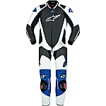 Alpinestars GP Pro 1 Piece Suit Black / White / Blue
