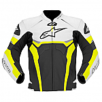 Alpinestars Celer Leather Jacket Black / White / Yellow