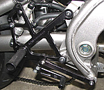 Woodcraft Kawasaki Ninja 650R '09-11 Rearset Kit Black w/Shift Pedal