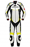 Spidi Leather Wind Pro 1 Piece Track Suit White / Yellow