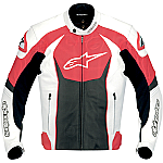 Alpinestars GP-R Leather Jacket White / Red / Black