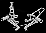 Woodcraft Suzuki SV650/S 99-02 Complete High Rearset Kit W/Shift & Brake Pedals