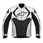 Alpinestars Jaws Perforated Leather Jacket Black / White