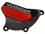 Woodcraft Honda CBR1000RR RHS 04-07 Clutch Cover Protector Assmbly, Black Anodized W/Skid Plate Kit Choice