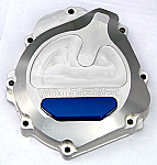 Woodcraft Suzuki GSXR600/750 04-05, GSXR1000 03-04, LHS Stator Cover Clear Anodized W/Gasket + Skid Plate Kit Choice