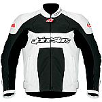 Alpinestars GP Plus Perforated Leather Jacket White / Black