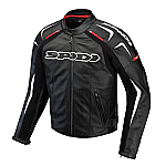 Spidi Track Leather Jacket Black / White