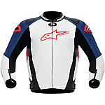 Alpinestars GP Pro Leather Jacket White / Black / Red