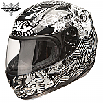 Fly Racing Paradigm Winner's Circle Helmet Black / White