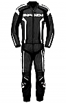 Spidi RR Leather 2 Piece Suit Black / White