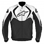 Alpinestars Jaws Leather Jacket Black / White