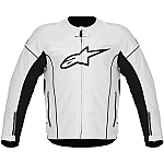 Alpinestars TZ-1 Reload Perforated Leather Jacket White