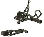 Woodcraft Suzuki GSXR1000 09+, GSXR600/750 11 Rearset Kit, w/Shifter, Black