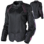 Scorpion ExoWear Ladies Jewel Jacket Black / Pink