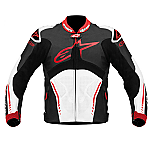 Alpinestars Atem Perforated Leather Jacket Black / White / Red