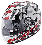 Scorpion EXO-500 Helmet Oil White/Red