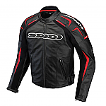 Spidi Track Leather Jacket Black / Red