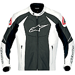 Alpinestars GP-R Leather Jacket White / Black